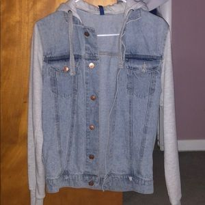 Jeans Jackets with hoodie from H&M